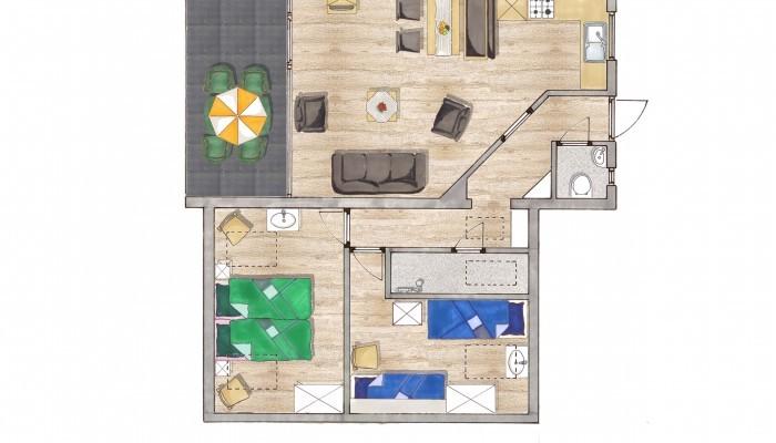 overnachten_zuid_limburg_panoorama_noorbeek_appartement_type_2b